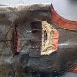 réparation poches gilet cuir