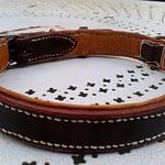 collier de chien doublé cuir